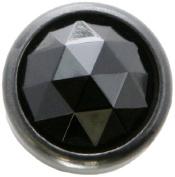 Diamond Head Upholstery Tack Crystal Stone, Black Diamond, 13mm in Black Setting