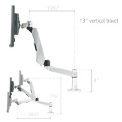 RightAngle Hover Spring Monitor Mount Arm for 1 Monitor with 1 Extension Bracket