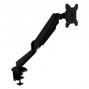 Fully Adjustable Tilt and Swivel Articulating Single Monitor Desk Mount For 38cm - 70cm Screens