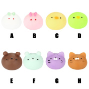 Mochi Squishy Toys, MORWIND Squishys 8 Pcs Mini Squishies Mochi Animals Stress Toys Panda Squishy Kawaii Squishy Cat Stress Reliever Anxiety Toys For Children Adults