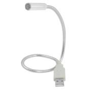 Home Desktop Portable Flexible Goose Neck USB LED Light for Notebook Laptop Silver Tone
