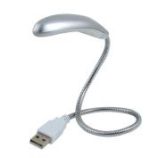 Home Desktop Portable USB 3 LEDS Light for Notebook Laptop Silver Grey