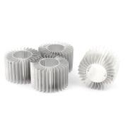 Unique Bargains 5Pcs Led Lamp Aluminium Heatsink Radiator Cooling Fin 57mmx29mmx37mm Silver Tone