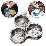 Stainless Steel Microwave Egg Boiler,Egg Poachers Cooker Nutrition Breakfast DIY Egg Steamer Tool Creative Kitchen Gadget