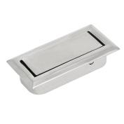 sourcingmap Home Office Drawer Dresser Metal Hidden Pull Handle Grasp Silver Tone