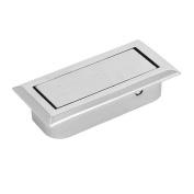 sourcingmap Home Office Drawer Dresser Metal Hidden Pull Handle Grip Silver Tone