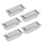 sourcingmap Home Office Dawer Dresser Metal Hidden Pull Handle Grasp Silver Tone 5pcs