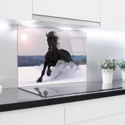 Kitchen Glass Splashback Printed Panels Heat Resistant Toughened Glass 90x65cm