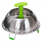 Stainless Steel Steamer Steaming Insert for vegetable Folding 18/28 cm Vegetable Steamer steamer basket for Pots