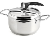 Inoxpran Stainless Pressure Cooker, Stainless Steel, 32 x 21 x 21 cm