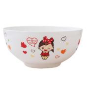 MXJ61 Creative 19cm Large Soup Bowl Soup Basin Bone China Tableware