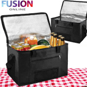 Evelyn Living Black 28 Litres Extra Large Cooling Cooler Cool Bag Box Picnic Camping Food Ice Drink