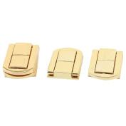 Unique Bargains Boxes Latch Gift Case Latches Box Hardware Gold Tone 4PCS