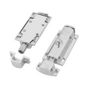 Stainless Steel Cupboard Closet Sliding Lock Barrel Bolt 7.4cm Length 2 Pcs