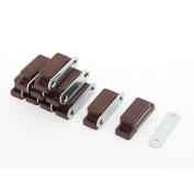 Cupboard Closet Door Magnetic Catch Latch 46mm x 17mm Dark Brown 10pcs