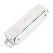 Silver Tone 0.24 x 0.16 Mounted Hole Double Roller Metal Base Door Latch Catch