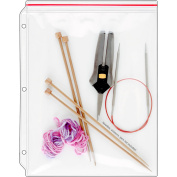 StoreSMART Zip-Top Supply Cases and Page Protectors for Crafting, Organising Supplies and Binders, Pack of 10