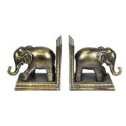 Sagebrook Home Bronze Elephant Bookends