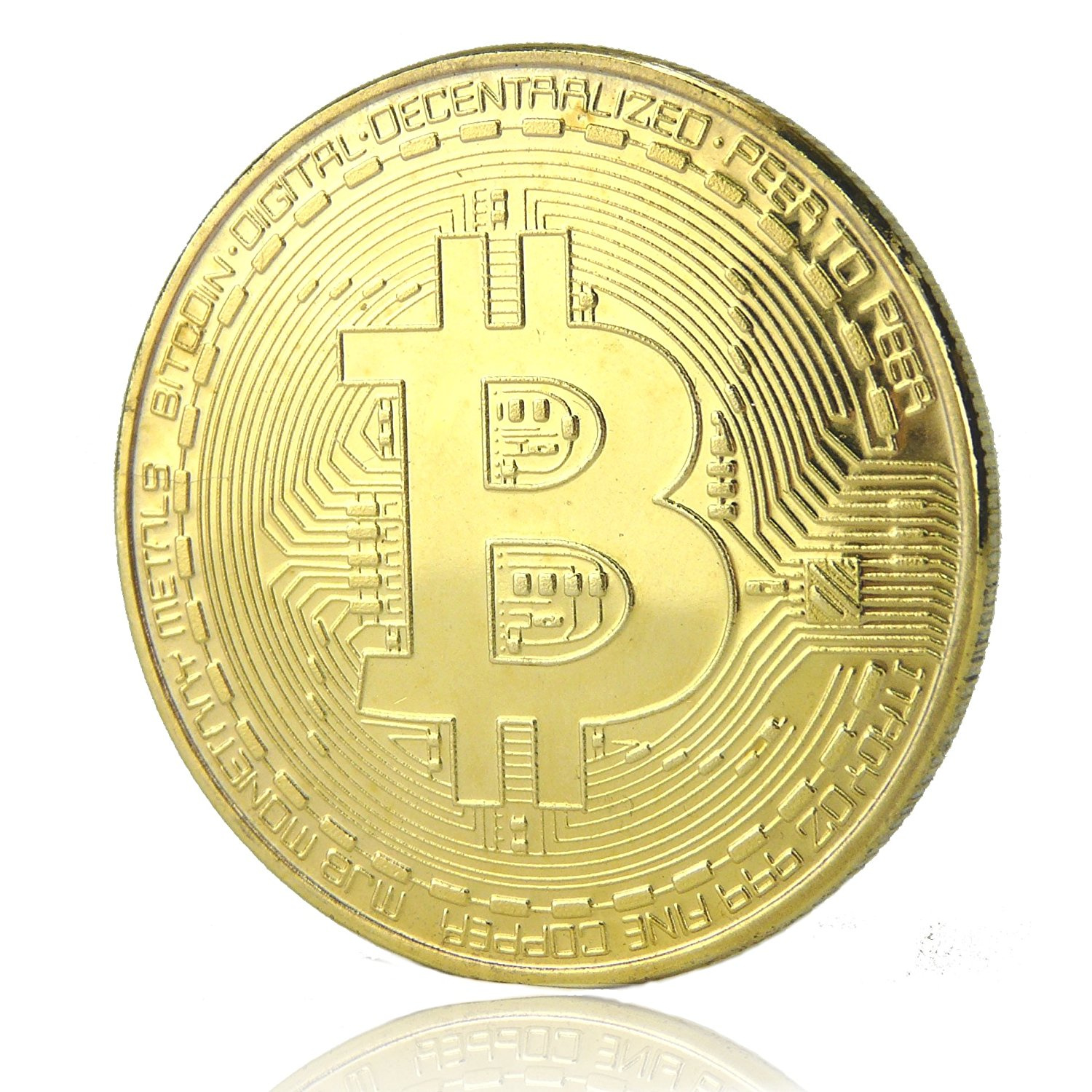 GOLD PLATED RIPPLE B-Creative Gold Silver Plated Bitcoin