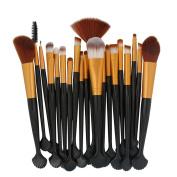 DELOITO Pro 20pcs Cosmetic Makeup Brushes Set Powder Foundation Eye shadow Eyeliner Lip Brush Tool