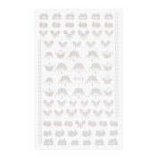 Demiawaking White Lace Floral Nail Stickers Water Transfer Nail Art Stickers Sheets for Girls