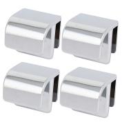 Furniture Cabinet Glass Door Metal Knobs Handle 3mm-5mm Thickness 4pcs