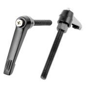 2Pcs M8x65mm Thread Clamping Lever Machinery Adjustable Locking Handle Knob