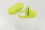 Tupperware Herb Containers Large Yellow Green Small 10031 2x 270 ml Jar