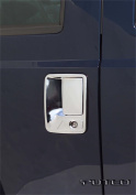 99-07 Ford Super Duty 4-Door TG Handle with TG Keyhole with Pass Keyhole Chrome Door Handle Covers