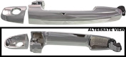APDTY 92061 Exterior Door Handle w/ Key Hole Front Left or Right Chrome Finish