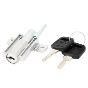 Home Office Cylinder Sliding Door Locks with keys Plunger Silver Tone