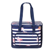 Large Capacity Flamingo Insulated Picnic Cooler Tote Lunch Bag for Women Girls Office Travel Beach Stylish 19L