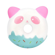 Squishies Panda Stress Relief Toys, HARRYSTORE Squishies Donuts Kawaii Cream Scented Slow Rising Toy