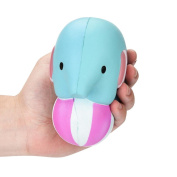 Slow Rising toy, Hot Sale Jumbo Cute and Soft Elephant Play Ball Squishy Scented Cream Squeeze Decompression Toys