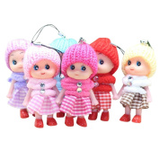 Dolls Key Chain,LUVERSCO 5Pcs Kids Toys Soft Interactive Baby Dolls Toy Mini Doll For Girls and Boys Hot For Mobile Phone Accessories Baby Toys Gift For Girl