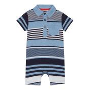 Bluezoo Baby Boys' Blue Striped Romper Suit