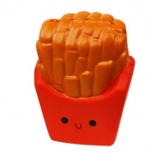 HARRYSTORE 12CM Slow Rising Squishy Soft Jumbo French Fries Squishy Charms Squeeze Toy