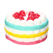 11*7cm Squeeze Toy,Malloom Stress Reliever Strawberry Cake Scented Super Slow Rising Collection Kids Toy
