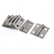 Cabinet Furniture Hardware Folding Door Butt Hinges Silver Grey 2.5cm Long 6pcs