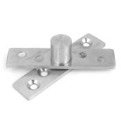 Unique Bargains 73mm Length Hardware Stainless Steel 360 Degree Door Pivot Hinge