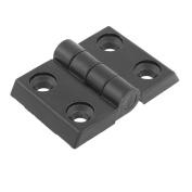 45mmx40mm 2 Leaves Aluminium Door Bearing Butt Hinge Hardware Black