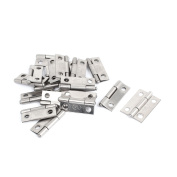 Unique Bargains Drawer Fixing Stainless Steel Butt Hinge Silver Tone 27mm Long 19 Pcs