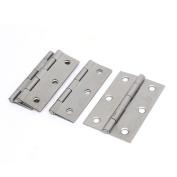 Cabinet Drawer Foldable Iron Door Butt Hinge Silver Grey 7.6cm Length 4pcs