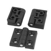 Unique Bargains 3pcs 50mmx45mm Black Plastic Folding Cabinet Door Flap Butt Ball Bearing Hinge