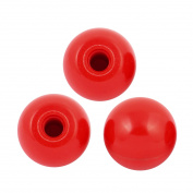 3Pcs Red Plastic Round Handle Ball Knob M10 Threaded 35mm Dia Machine Tools