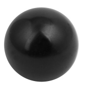Unique Bargains 32mm Dia M10 Female Threaded Plastic Round Handle Ball Knob Black
