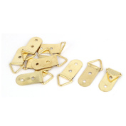 40mm x 18mm Double Hole Triangle D-Ring Picture Photo Frame Strap Hangers 10PCS