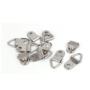 26mm x 14mm Single Hole Triangle D-Ring Picture Frame Hangers Hooks 10PCS