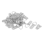 55mm x 23mm Triangle D-Ring Picture Frame Hanging Hangers Hooks 30PCS w Screws