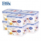 EASYLOCK Plastic Food Containers Set with Lids Airtight Small Kitchen Storage Box 510ml 2.1 Cup Pack of 6
